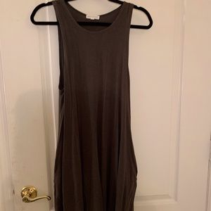 Socialite Olive Green Swing Dress with Pockets